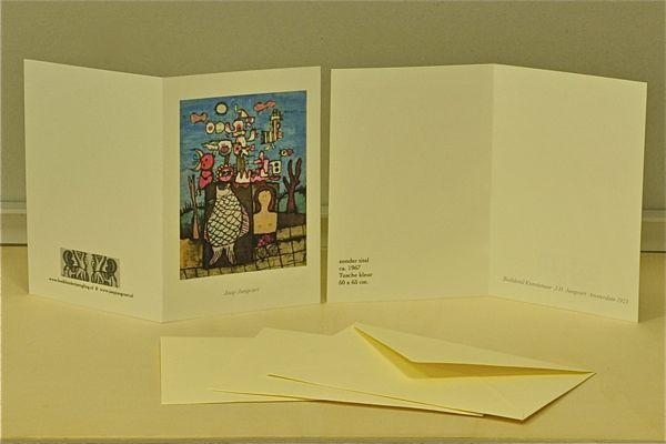 kaart kaarten beeldend kunstenaar Jaap Jungcurt J.H. Het Visje Jacobus cursto karel beunis handmade limited edition boekbinderij seugling
