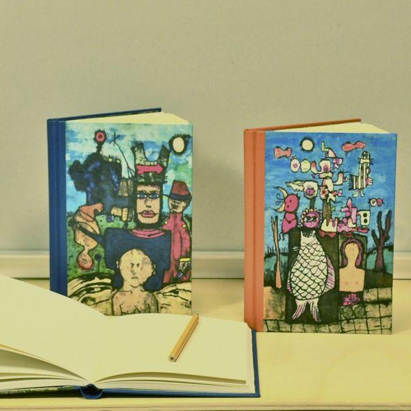 The Hatter en Het Visje schetsboek blanco boek tekenboek beeldend kunstenaar Jaap Jungcurt J.H. Jacobus cursto karel beunis