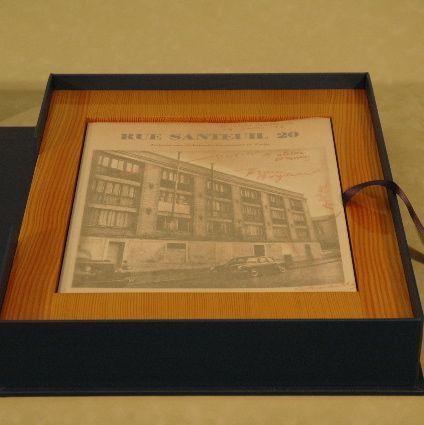 een overslagdoos, een handmade limited edition