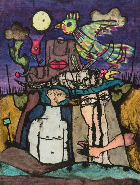 kaart kaarten beeldend kunstenaar Jaap Jungcurt J.H. Jacobus cursto karel beunis LRP 1967 De Haan