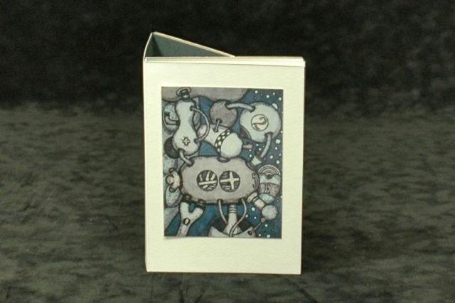 leporello met werk van J.H.Jungcurt, gelimiteerde oplage on demand bij Uitgeverij Limited Editions verkrijgbaar