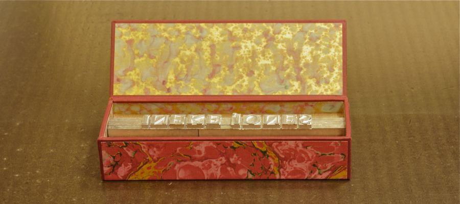luxe bezwaarpakket, presse papier, gemaakt bij boekbinderij Seugling in Amsterdam
